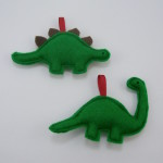 Christmas ornaments dinosaurs