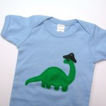 brontosaurus pirate onesie from Panda With Cookie.