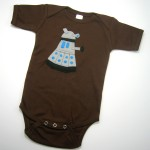 Dr. Who Dalek One Piece in chocolate brown