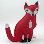 red fox plush toy, vegan friendly