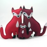 Fox family plush