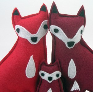fox family close up