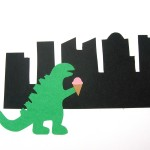 Godzilla Paper Print