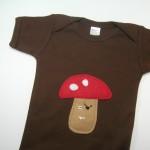 Mushroom Pirate Baby Onesie