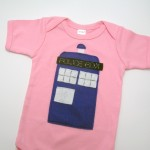 Doctor Who Tardis Onesie in pink