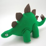 dinosaur plush. Stegosaurus plush made from eco-felt.