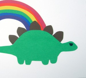 Stegosaurus Pirate Rainbow