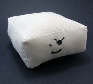 The tofu pirate plush makes a wonderful vegan gift.