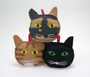 cat ornaments, crafty wonderland