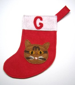 Personalized cat stocking