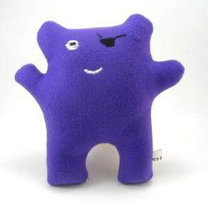 mini purple pirate monster