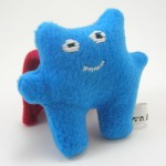 super monster in blue from Panda With Cookie. Handmade plush toy