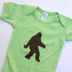 sasquatch baby onesie handmade by Panda With Cookie.