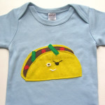 taco pirate onesie in blue