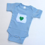 I love oregon baby onesie in blue