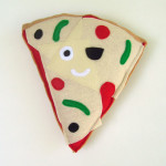 pizza plush as seen at the llewellyn holiday market