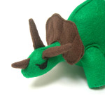 Triceratops plush toy handmade by Panda With Cookie