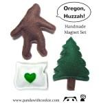 Sasquatch Pine Oregon Handmade Magnet Set