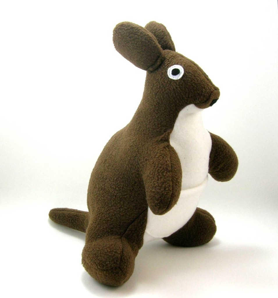 A kangaroo plush toy