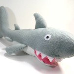 shark plush toy at the Laurelhurst Winter Bazaar