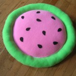 Watermelon cat bed