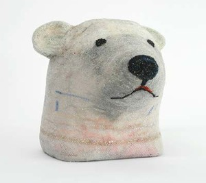 Polar Bear head by Sherry Markovitz at Greg Kucera Gallery