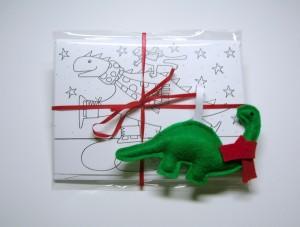 Christmas card and ornament set