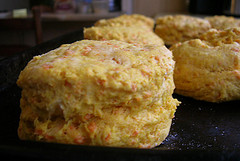 Pumpkin cheddar biscuits