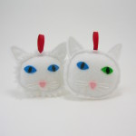 White cat ornament