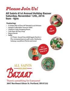 All Saints Holiday Bazaar