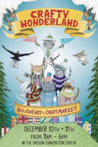 Crafty Wonderland holiday market in Portland Oregon
